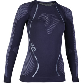 UYN W's Ambityon UW LS Shirt Deep Blue/White/Light blue